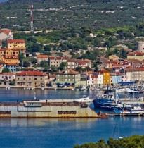 Cres island panorama view