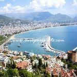 Panorama of famous holiday resort in Turkey, Alanya