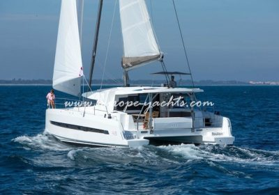Bali 4.5 for charter in Greece with Europe Yachts back
