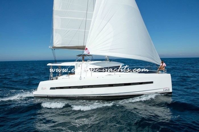 Bali 4.5 for charter in Greece with Europe Yachts right side