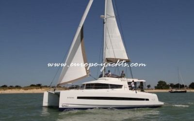 Bali 4.3 for charter in Greece with Europe Yachts left side
