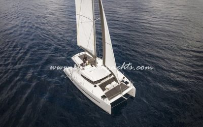 Bali 4.0 catamaran for charter with Europe Yachts Charter air