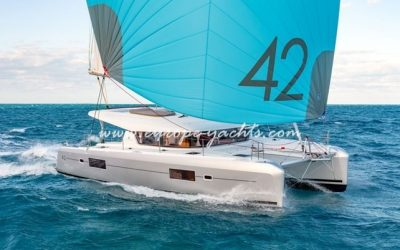 Lagoon 42 for charter with Europe Yachts main