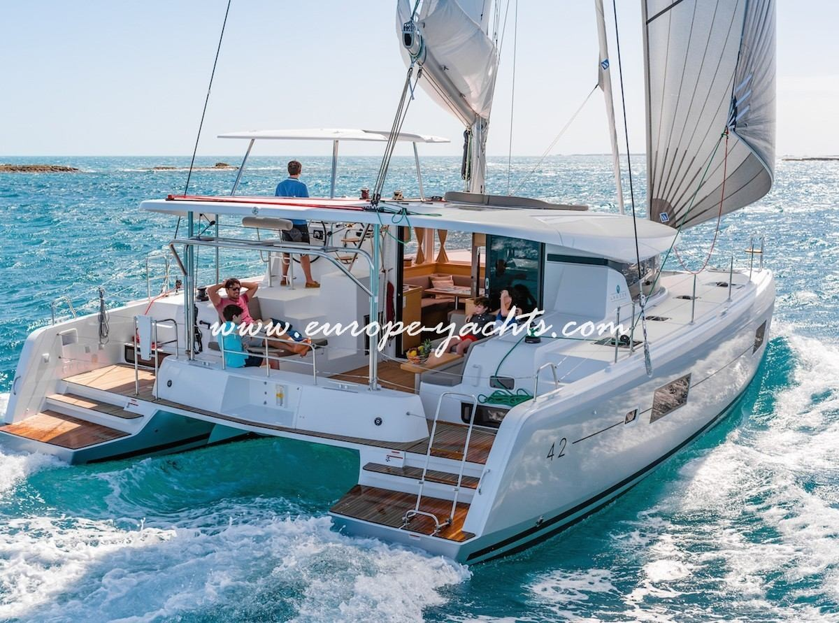 Lagoon 42 brand new catamaran for charter in Croatia