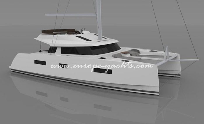 Nautitech Open 46 Fly for charter with Europe Yachts main