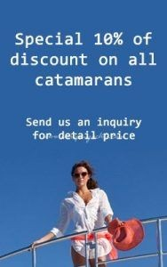 Special charter Discount for catamarans and sailing aychts